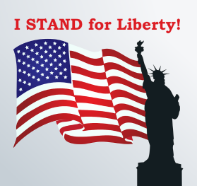 I STAND for Liberty! Sticker